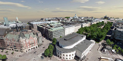 Winner Innovation in Reality Modeling: City of Helsinki - Helsinki 3D+ Helsinki, Finland. Image Courtesy of Bentley Systems