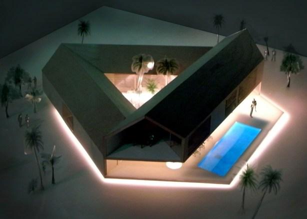 Triangular House top view