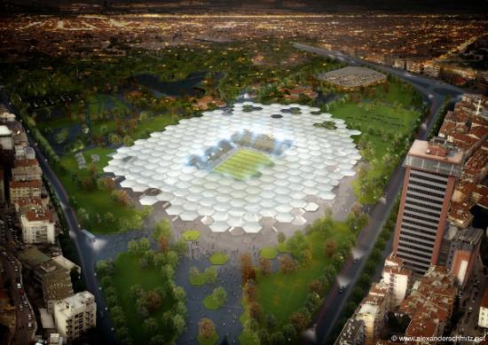 Bursa stadium birds eye view