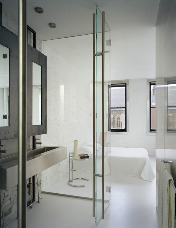 Master Bathroom and Bedroom Beyond ©Paul Warchol