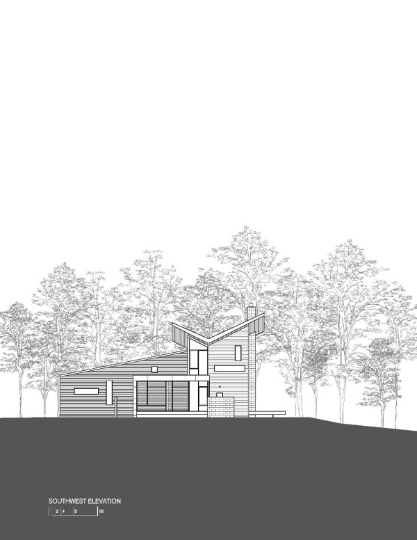 Harkavy Residence Elevation Southwest