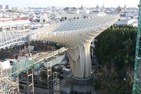 Metropol Parasol Costruction in February, 2011