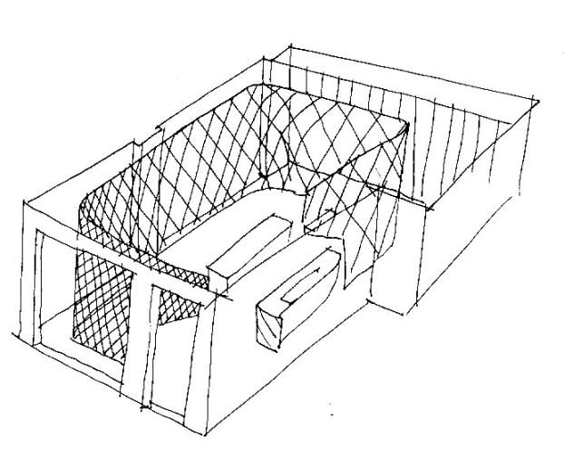 Sketch of Munich Fractal Arena, Valencia, 2010