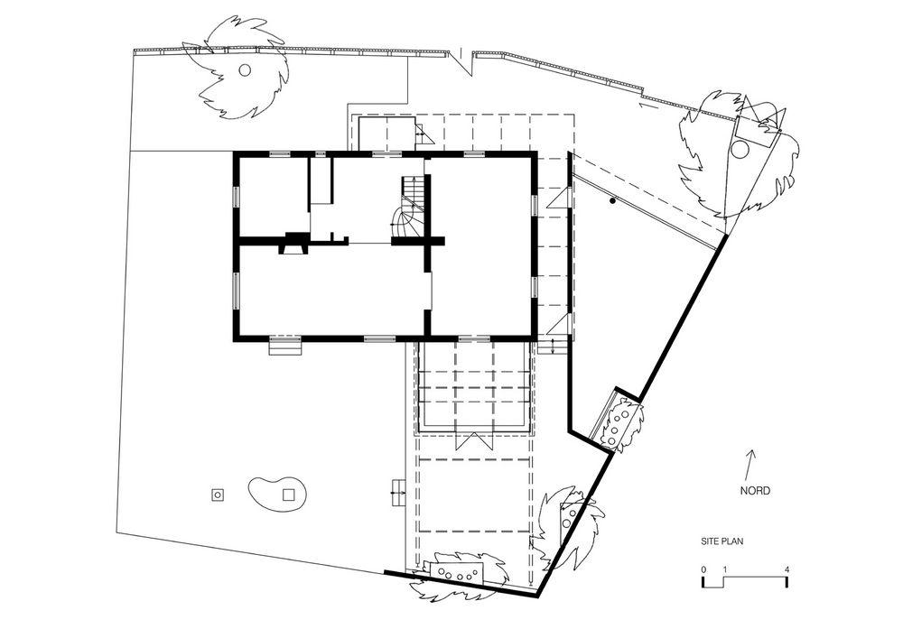 Grundriss Japanisches Haus garden room in glass by architekturstudio bulant wailzer