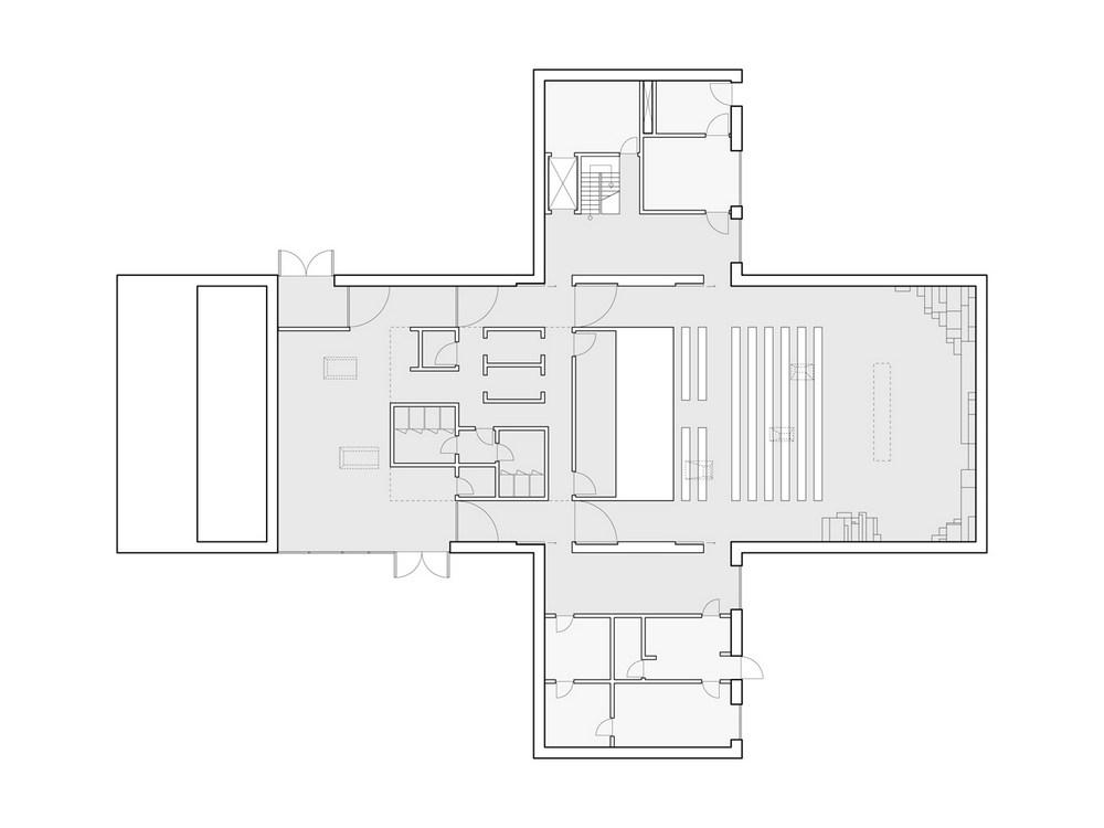 New church of v ler in hovedveien norway by cebra for Church floor plans free