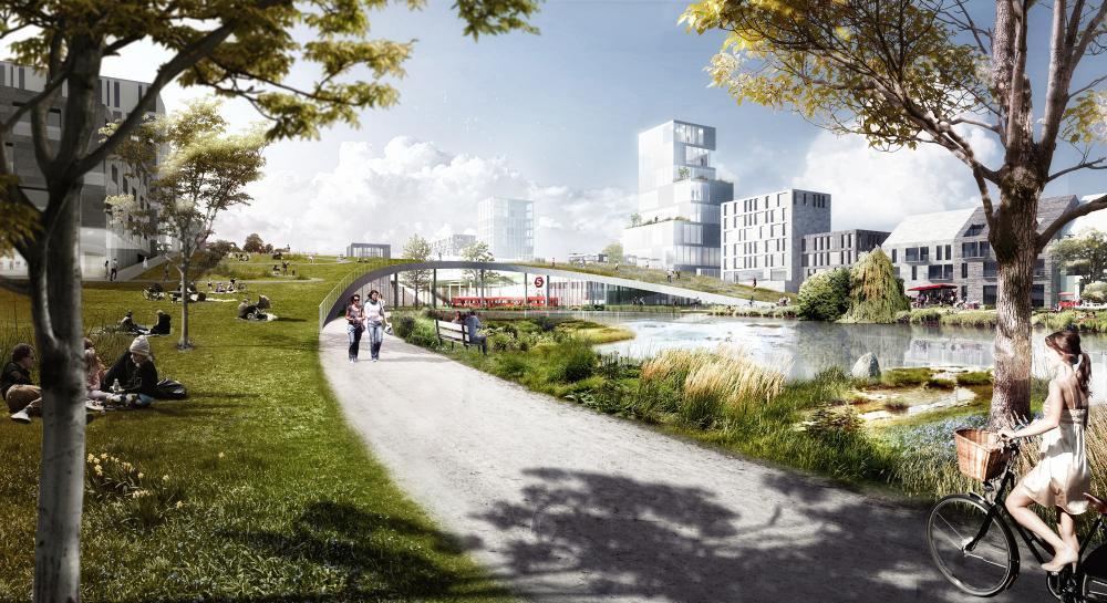 vinge masterplan proposal in copenhagen denmark by effekt