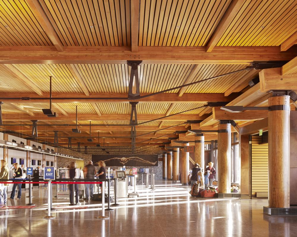 Jackson Hole Airport >> Archshowcase Jackson Hole Airport In Wyoming By Gensler