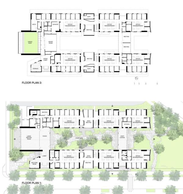 Ground and Second Floor Plans ,Image Courtesy © EHDD