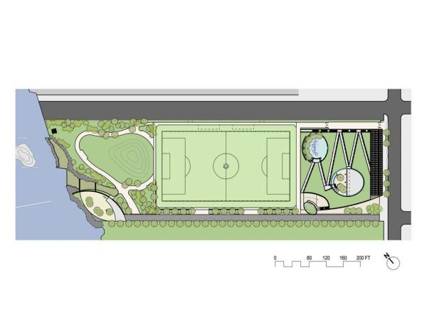 Site Plan - Photo Credit: Kiss + Cathcart, Architects © New York City, NYC Parks