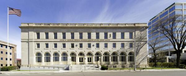 Wayne N. Aspinall Federal Building and U.S. Courthouse (South Elevation), Image Courtesy © Kevin G. Reeves, Photographer