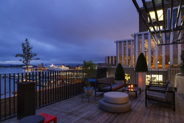 Terrace view towards south-west, Image Courtesy © Oslo S Utvikling_Einar Horsberg