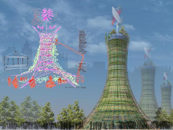 Skyfarm by Rogers Stirk Harbour + Partners and Arup Associates
