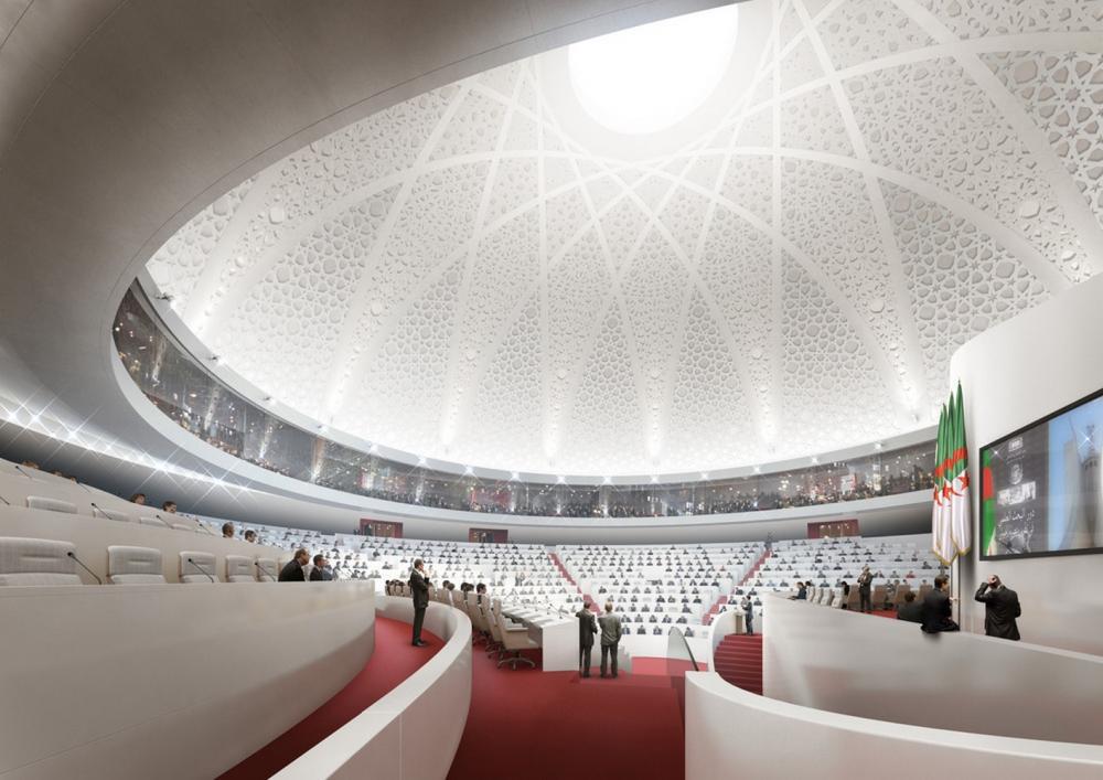 New algerian parliament in algiers algeria by bureau