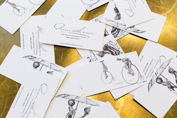 Pennethorne's Cafe Bar identity by SHH - business cards, Image Courtesy © Gareth Gardner