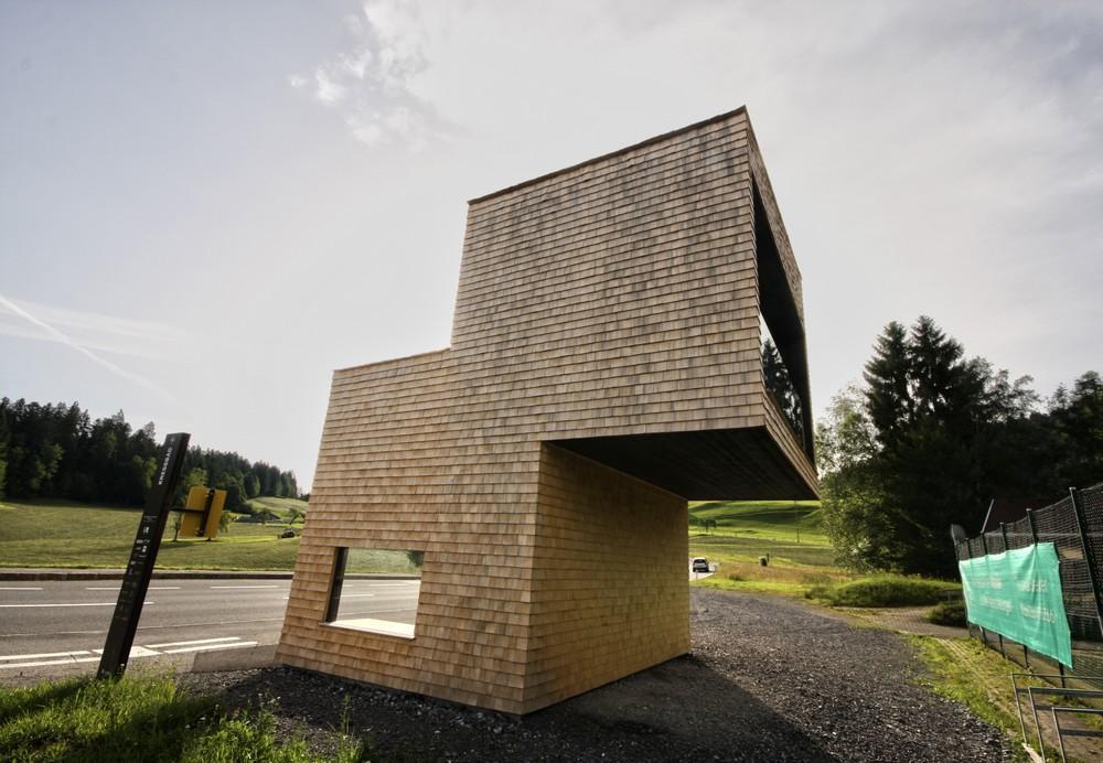 Bus Stop Kressbad In Krumbach Austria By Rintala Eggertsson