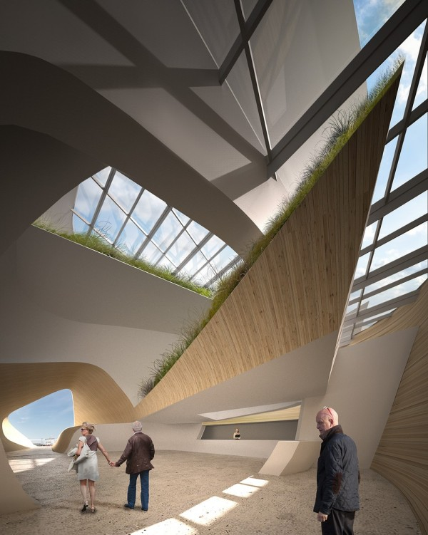 View of Atrium From North Entry, Image Courtesy © PLUS-SUM Studio