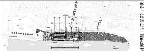 Site plan of the Bálna building, Image Courtesy © ONL [Oosterhuis_Lénárd]