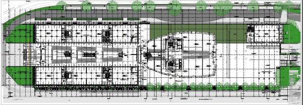 Ground floor plan of the Bálna building, Image Courtesy © ONL [Oosterhuis_Lénárd]