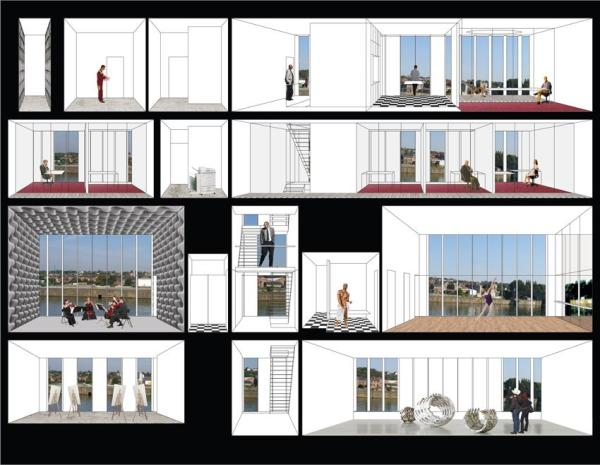 Conceptual section of the four floors – facades revealing the section, Image Courtesy © LABEL ARCHITECTURE