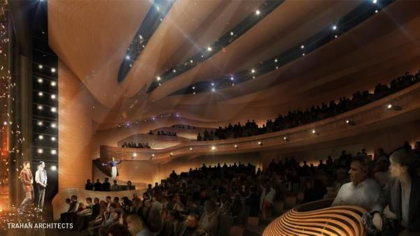 Theatre From Orchestra, Image Courtesy © Trahan Architects
