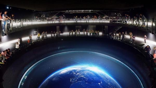 inverse planetarium Columbus Earth Theater , Image Courtesy © Kenneth Tan