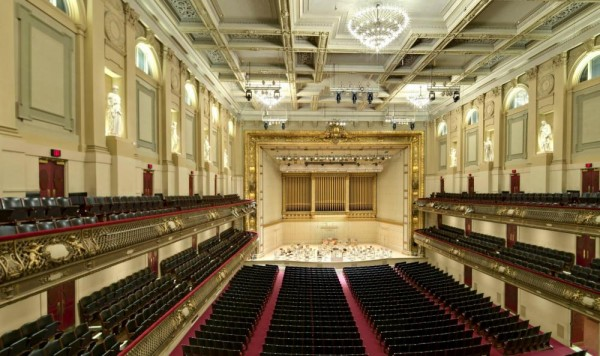 BSO Symphony Hall, Image Courtesy © Cheryl Fleming Photography
