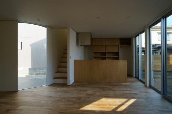 the kitchen viewed from the  living room, Image Courtesy © HYAD architects