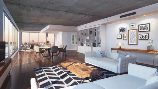Refined and bright interiors, designed to maximize space, Image Courtesy © Sébastien Gaudard - Vizual 3D