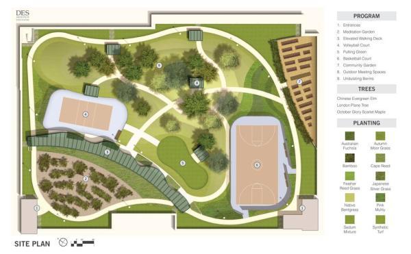 Site Plan,Image Courtesy © DES A+E