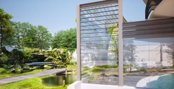 Japanese Garden Proposal, Image Courtesy © Razvan Barsan + Partners