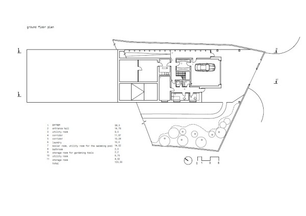 ground floor plan, Image Courtesy © DROZDOV & PARTNERS Ltd.