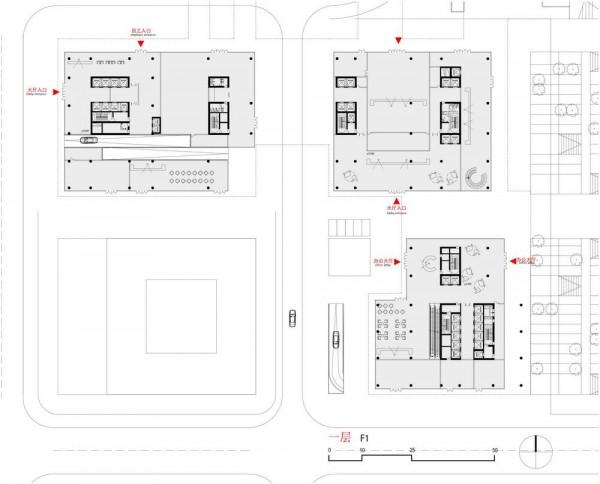 Floorplan level 1, Image Courtesy © gmp