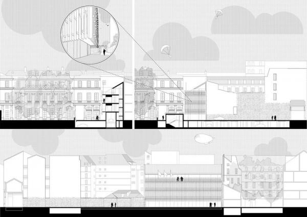 Sections, Image Courtesy © Tomas Ghisellini Architetti