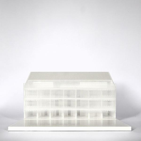 Model of the east wing, Image Courtesy © Tomas Ghisellini Architetti