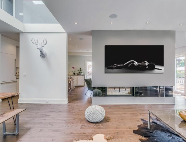 Interior View from main floor, Living Room, Image Courtesy © Navid Aali
