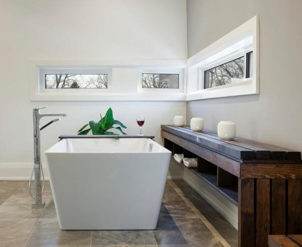 Interior View from second floor Bathroom, Image Courtesy © Tom Arban