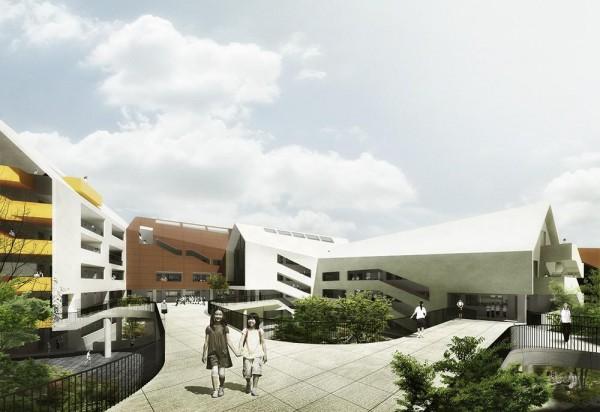 Podium of Secondary School, Image Courtesy © LYCS Architecture