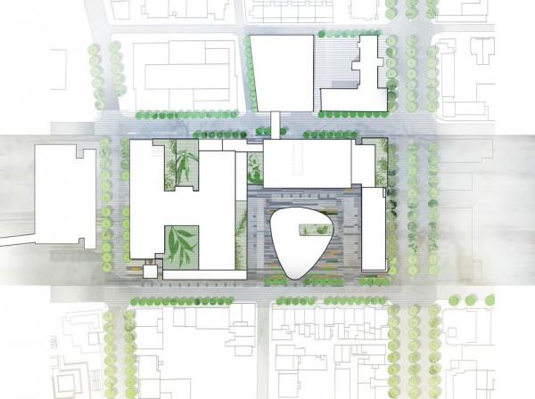 Site plan, Image Courtesy © CannonDesign + NEUF architect(e)s