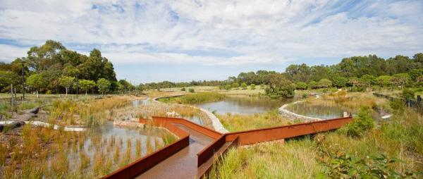 Turf Design Studio & Environmental Partnership with Alluvium, Turpin + Crawford Studio, Dragonfly Environmental and Partridge – Sydney Park Water Re-use Project, Image Courtesy © Simon Wood
