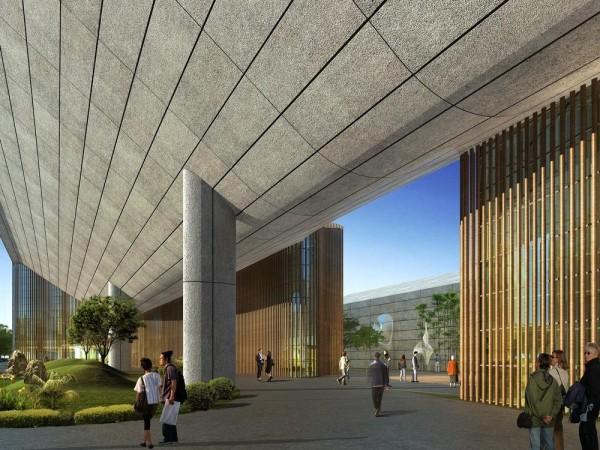 Main Entrance, Image Courtesy © Hui Jun Wang, Yuan-Sheng Chen, Florian Pucher, Milan Svatek, Christian Junge