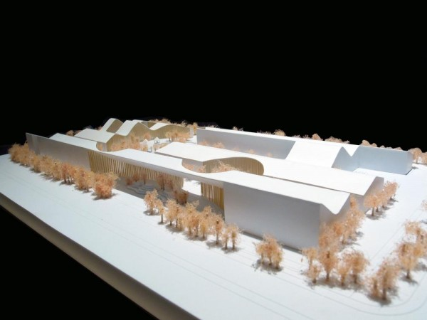 Model - View from East 1, Image Courtesy © Hui Jun Wang, Yuan-Sheng Chen, Florian Pucher, Milan Svatek, Christian Junge