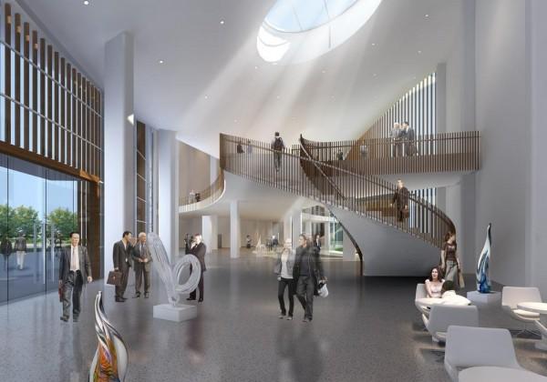 Lobby- Auction Hall and Innovation Center, Image Courtesy © Hui Jun Wang, Yuan-Sheng Chen, Florian Pucher, Milan Svatek, Christian Junge