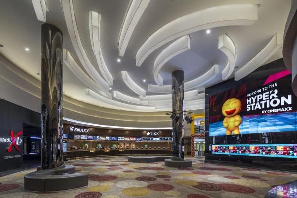 Lippo Village Maxx Box Cinema main lobby, Image Courtesy © Marc Tey