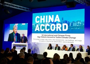 Ed Mazria presenting the China Accord at the UNFCCC COP21 Buildings Day