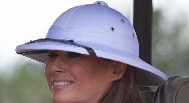 Twitter Chastises Melania Trump for Wearing 'Colonial' Headgear in Africa