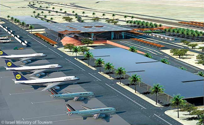 The Israel Ministry of Tourism expects Timna's new Ilan Ramon International Airport, which is due to open in late 2014, to spark a 300 per cent increase in tourism to southern Israel. The new airport will feature a light-rail system for rapid access to the seaside resort of Eilat, 11 miles away. The new airport will replace existing airports at Ovda and Eilat