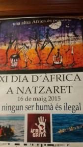 Cartel del Día de África en el barrio valenciano de Nazaret