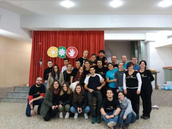 El equipo de voluntarios