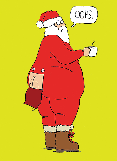 Funny Christmas Card Santa Butt From