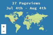 Ubicaciones de los visitantes de este blog